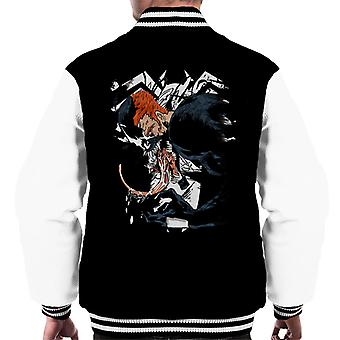 Venom Eddie Brock Half Face Men's Varsity Jacket