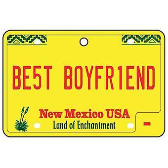 New Mexico - Best Boyfriend License Plate Car Air Freshener