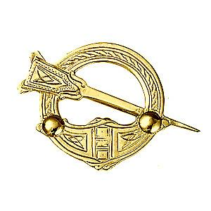 9ct Gold 29x42mm Claddagh Brooch