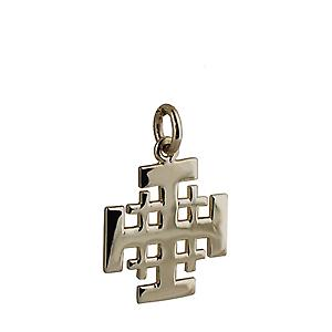 9ct Gold 19mm Jerusalem Cross