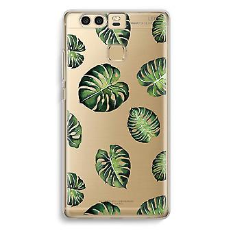 Huawei P9 Transparent Case - Tropical leaves