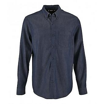 SOLS Mens Barry Long Sleeve Denim Shirt