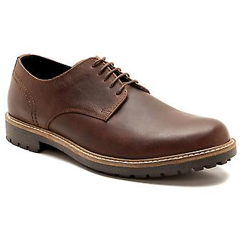 La paperasserie Risley Mens cuir marron bois Gibson chaussures