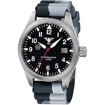 KHS horloges mens watch Airleader staal KHS. VOOR HET EERST UITGEZONDEN. DC1