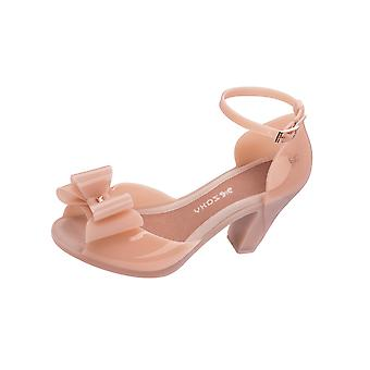 Zaxy Diva Bow 2 Womens Jelly High Heels / Shoes - Nude