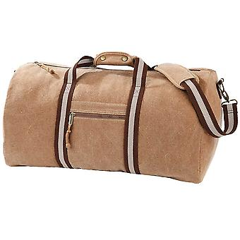 Quadra Unisex Adults Travel Desert canvas holdall Rucksack Bag One Size