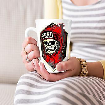 Martwy szef twarz Gang czaszki Nowa Biała herbata kawa Latte ceramiczny kubek 17 oz   Wellcoda