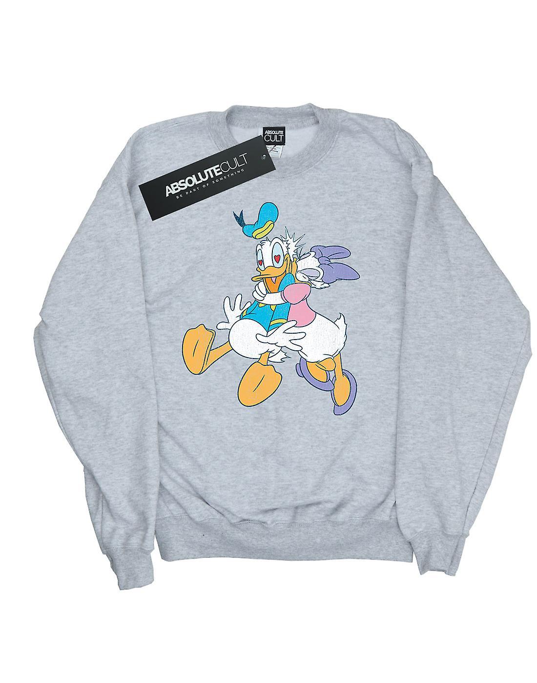 Disney Women's Donald And Daisy Duck Kiss Sweatshirt