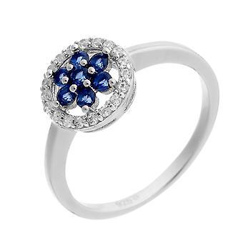 Orphelia Silver 925 Ring Blue/White  Zirconium   ZR-7047
