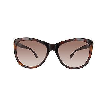 Calvin Klein solbriller CK4220S-320-56 HAVANA sort
