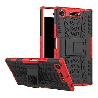 Cas 2 pièce SWL robot rouge Sony xperia XZ1 compact / mini sac Housse Etui protection hybride
