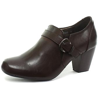 Boulevard Heeled Buckle/Gusset Womens Mid Heel Shoes  AND COLOURS