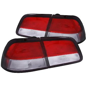 Anzo USA 221136 Nissan Maxima Red/Clear-4 Pc. Tail Light Assembly - (Sold in Pairs)