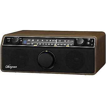 Sangean WR-12 BT Walnuss FM Table top radio AUX, Bluetooth, AM, FM Wood