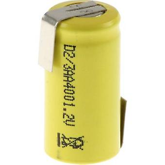Mexcel D-2/3AA400 Non-standard battery (rechargeable) 2/3 AA Z solder tab, Flat top NiCd 1.2 V 400 mAh