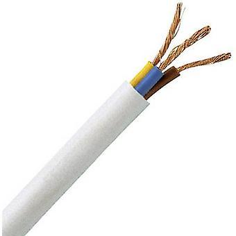 Flexible cable H05VV5-F 3 G 1 mm² White Kopp