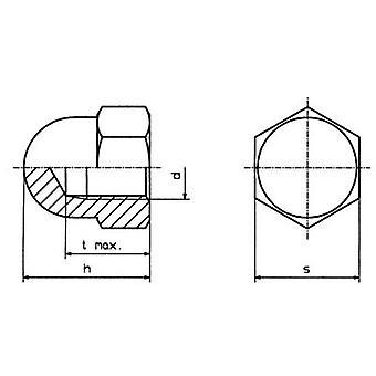 TOOLCRAFT M4 D1587-STAHL:A2K 194787 六角ナット M4 DIN 1587 鋼亜鉛メッキ 10 pc(s)