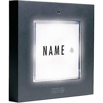 m-e modern-electronics KTB-1 A Bell panel backlit, incl. nameplate 1x Anthracite 12 V/1 A