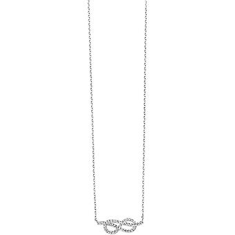 Elements Silver Cosmic Cubic Zirconia Infinity Pendant - Silver