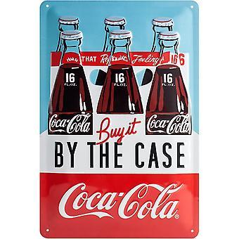Coca-Cola pelo Metal em alto-relevo caso assina 300 X 200 Mm