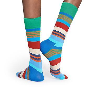 Happy Socks Multi Stripe Socken - Blau