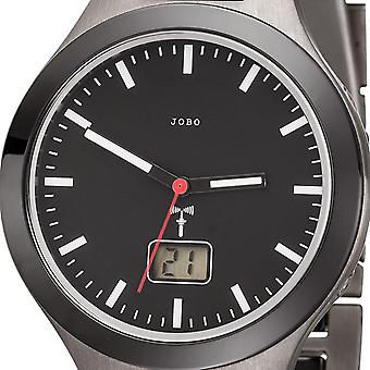 JOBO men's wristwatch radio radio clock ceramic titanium date mens watch ceramic watch