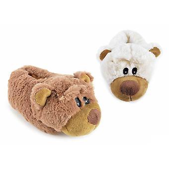 SlumberzzZ barn nyhet Bear Design varm fuskpäls klassisk toffel