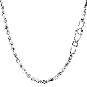 Argento rodiato collana di diamanti taglio corda, 2,9 mm