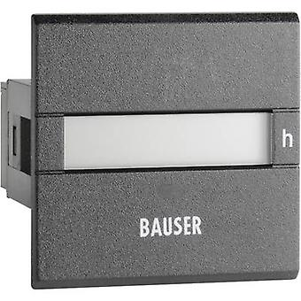Bauser 3801.2.1.0.1.2 Digital operating hours counter type 3801 Assembly dimensions 45 x 45 mm
