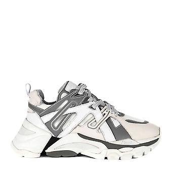 Ash FLASH Trainers White & Grey Leather