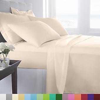 100% エジプト綿のベッド シート セット (500tc) - アイボリー