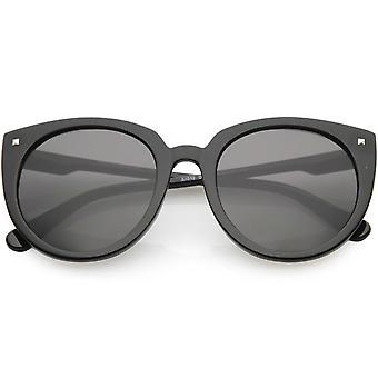 Women's Oversize Cat Eye Sunglasses Slim Arms Round Lens 54mm