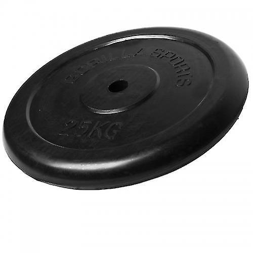 Poids disque en caoutchouc de 25 kg