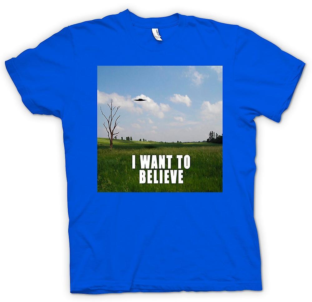 Mens T-shirt - je crois - coloris - drôle