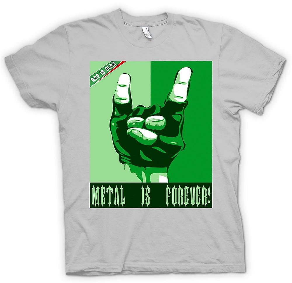 Mens t-shirt-Rap è morto Metal Is Forever