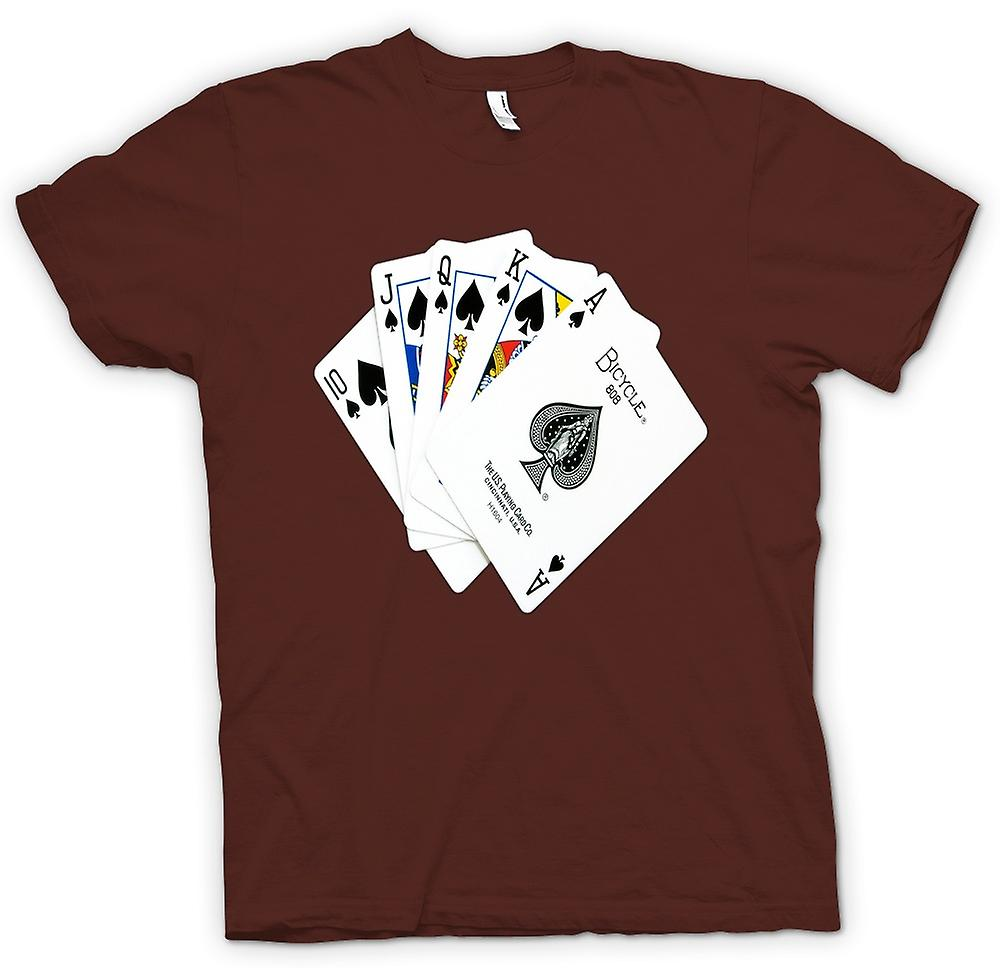 Mens t-skjorte-Poker Royal Flush