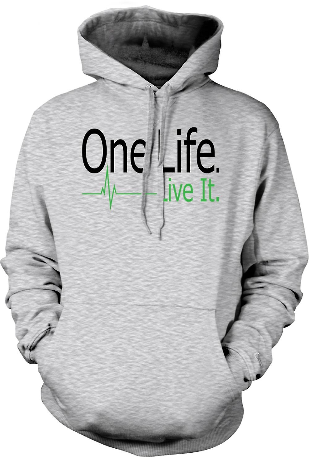 Mens Hoodie - One Life, Live It
