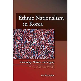 Etniska nationalismen i Korea: Släktforskning, politik och Legacy (studier för Asien Research Center): Släktforskning, politik och Legacy (studier för Asien Research Center)