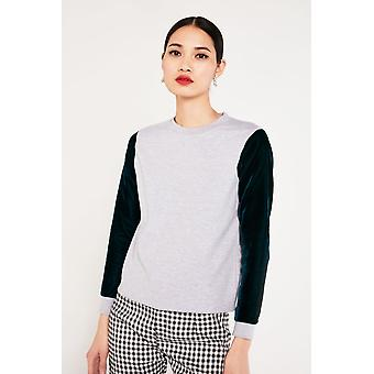 Hit The Road Jacques Sweater With Velvet Sleeves