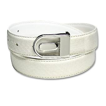 Genuine Snake Skin Bonded Leather Belt