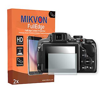 Nikon COOLPIX P610 screen protector - Mikvon FullEdge (screen protector with full protection and custom fit for the curved display)