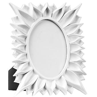 Pow - Freestanding Pop Art Single Oval Photo / Picture Frame - White