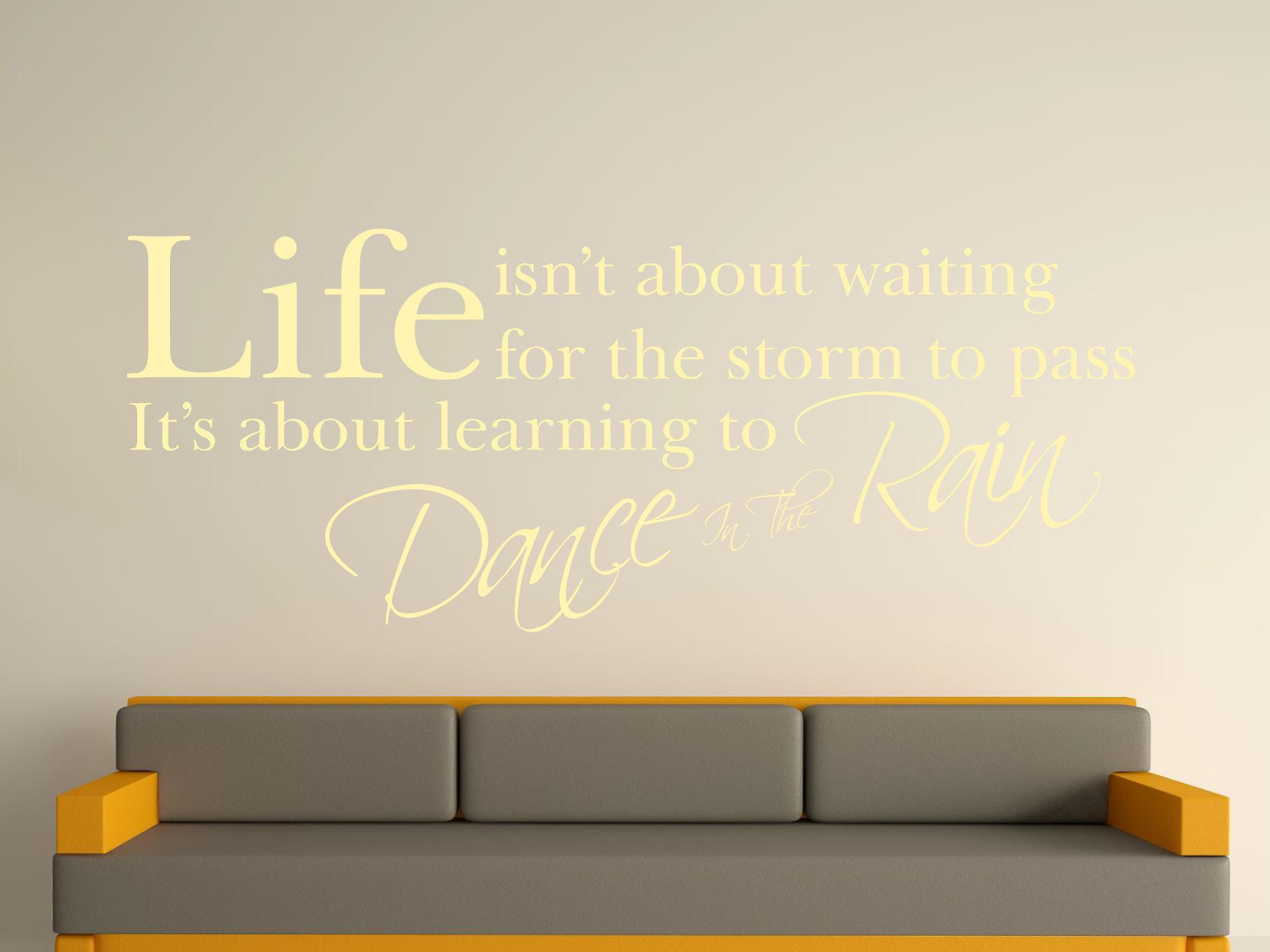 Dans In de regen Wall Art Sticker - Beige