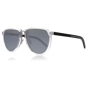 Dior Homme BLACKTIE 248S 900 Crystal BLACKTIE 248S Pilot Sunglasses Lens Category 3 Lens Mirrored Size 57mm