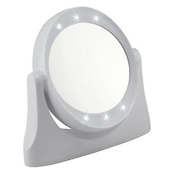 LED 10 x lupa de maquillaje o afeitado espejo - blanco