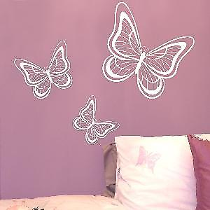 Set of 3 Butterflies Wall Sticker