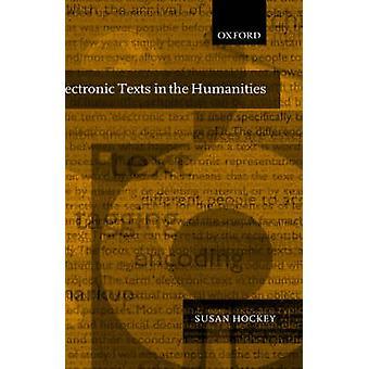 النصوص الإلكترونية في العلوم الإنسانية مبادئ وممارسة الهوكي سوزان &