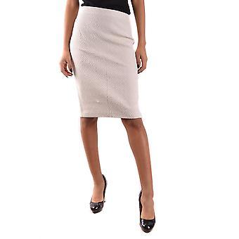 Falda de algodón blanco de Armani Collezioni