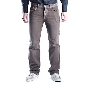 7 For All Mankind Brown Cotton Jeans
