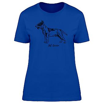 Bull Terrier Silhouette Tee Women's -Image by Shutterstock